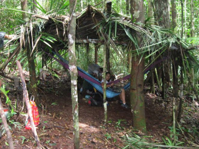 acampando na floresta-camping in the jungle
