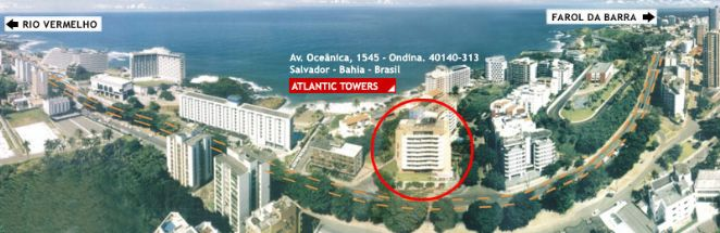 Com 133 apartamentos, todos com internet banda larga, o Atlantic Towers Salvador possui centro de conven��es, piscina, sauna, business center 24h,TV a cabo, sala de gin�stica, servi�o de manobrista 24h, al�m do Restaurante Alfredo di Roma e da Pizzar