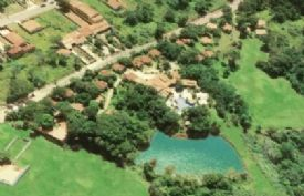 vista aérea do hotel