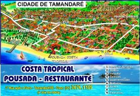 Mapa Pousada Costa Tropical