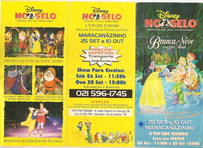 DISNEY ON ICE (A BRANCA DE NEVE E OS SETE AN�ES)