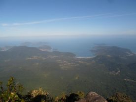 Vista do pico do corcovado